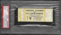 Oct 9 1974 ABA Basketball Squires/St Louis Spirits 1st year Unused Ticket NM!!