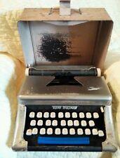 Vintage Tom Thumb Kids Childrens Metal Typewriter w case