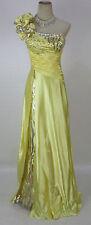 New Tony Bowls 112719 Genuine Yellow Beaded Prom Bridal Formal Women Dress 4