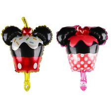 2 Pack Mickey Mouse Minnie Cupcake Foil Balloons Birthday Disney Party kids Baby