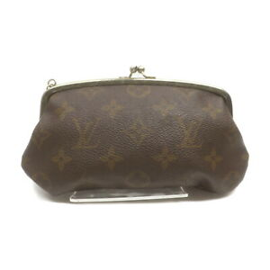 Louis Vuitton LV Cosmetic Pouch Bag Bucket's pouch Browns PVC 1610056