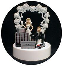 Car AUTO tools Wedding Cake Topper Bride Groom Top Tool Box Funny Racing GRAY