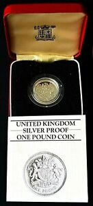 1983 ROYAL ARMS SILVER PROOF £1 COIN.                                81-OO