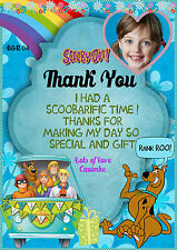 Personalised Girls Birthday Party thank you card  Scooby doo,scooby doo   X 8