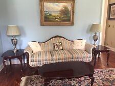 Antique Duncan Phfye Style Victorian  Gooseneck Sofa