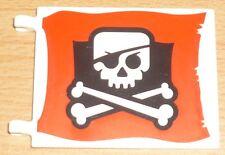 Lego Piraten 1 Fahne / Flagge in weiß / rot / schwarz (6 x 4)