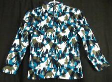 Gymboree Fleece Pullover Jacket Half Zip Aqua/Gray Forest Wolves 5-6 7-8 New NWT