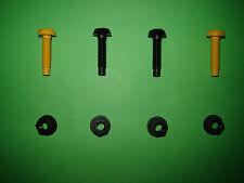 Classic Mini Number Plate Screws Bolt Set Black Yellow Front Rear *UK FREEPOST*