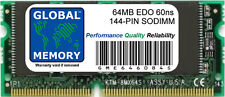 64Mb 60ns 144-Pin Edo Sodimm Memory Ram For Laptops/Notebooks