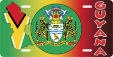 GUYANA LAND OF RIVERS AND PLAINS LICENSE PLATE