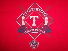 MLB Texas Rangers 2010 American League Champions Red Graphic Print TShirt XXL