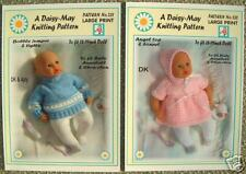 "2 DOLLS KNITTING PATTERNS  16""-18"" inch doll 234/235 for Annabell by Daisy-May"