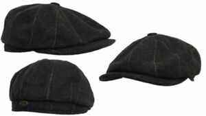 Tommy Shelby 8 PANEL,BAKERBOY,NEWSBOY,PEAKY BLINDER,1920s Cheese cutter Cabbie