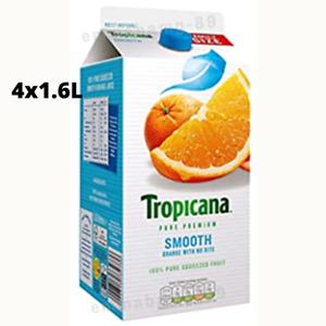 Tropicana Original Orange Fruit Juice w/ no Bits Cartons 100% Pure 4x1.6L SEALED