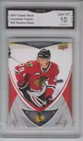 GMA 10 Gem Mint JONATHAN TOEWS 2007/08 Upper Deck STAR ROOKIE Card HAWKS!