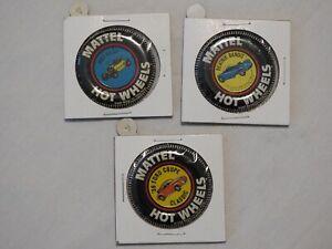 Hot Wheels Buttons-Hot Heap, Beatnik Bandit, & 36 Ford Coupe Classic, Metal