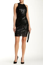 Alexia Admor Sequin Bodycon Dress Black Size M Medium