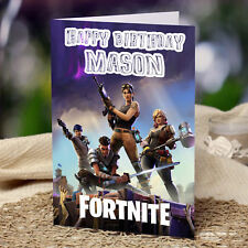 FORTNITE Personalised Birthday Card FREE Shipping! Son Grandson Bro Xbox PS4