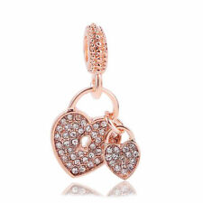 2018 new 1pcs rose gold CZ European Charm Beads Fit 925 Necklace Bracelet Chain