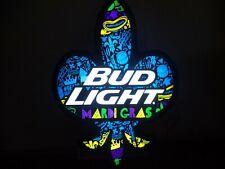 Bud Light Beer Sign - Led Light Mardi Gras - Die Cut - Man Cave - Bar Pub - New