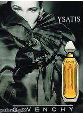 Publicité Advertising 1992 Parfum Ysatis de Givenchy