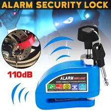 Motorcycle Disc Lock Alarm Motorbike Brake Disk Rotor Security ATV Roa