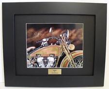 Vintage Harley Davidson JD Signed Ltd Edition Framed Motorcycle Art Print by JG