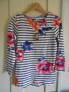 Joules harbour top 3/4 sleeves floral print UK8