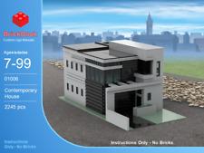 LEGO® Custom Modular Instructions - Contemporary House 01006