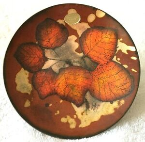 Mountain Craft Silverton Colorado Autumn Leaves Pottery Bowl/Plate