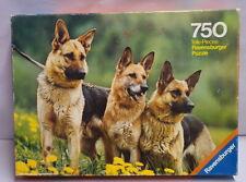 Vintage Ravensburger 750 German Shephard Dogs Jigsaw Puzzle c1976 59.4 x 41.8cm