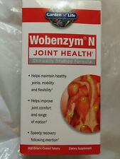 GARDEN OF LIFE WOBENZYM N JOINT HEALTH 800 ENTERIC-COATED TABLETS EXP.07/20+