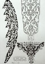 Entrelacs Arabesques ornement architecture gravure Riester Clerget