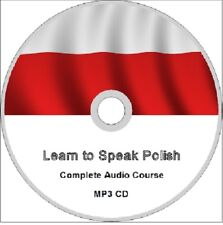Learn to speak POLISH Complete audio language course CD MP3 easy fast method