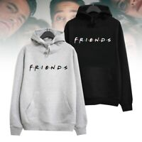 Women Hoodie Friends TV Show Sweatshirt Hooded Jumper Ladies Black Gray sdj