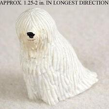 Komondor Mini Resin Dog Figurine Statue Hand Painted