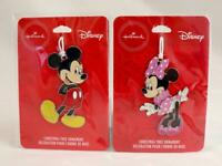 Hallmark Walmart Exclusive Disney Mickey & Minnie Mouse Xmas Tree Ornaments NEW