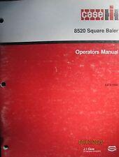 CASE - IH 8520 Square Baler Operator`s Manual Factory Original OEM 1990