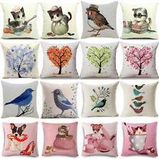 "18""*18"" Dog Cat Cotton Linen Pillow Covers Pillow Cases Sofa Cushion Home Decor"