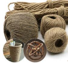 1.5mm 20m Long  Twisted Craft Linen Rope DIY Natural Burlap Jute Twine Hemp Cord