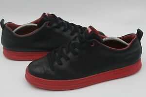 Men's Camper Black Red Leather Extralight Laced Shoes Trainers Size UK 11
