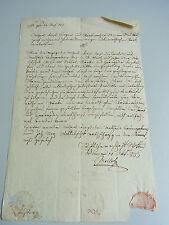 Dokument SCHOTTEN (Wien) 1833: über Verbot Stärke-Verkauf in ST. ULRICH & NEUBAU