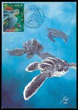 France Mk mar-tortuga Turtle maximum tarjeta Carte maximum card mc cm be57
