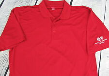 Men's Blue Cross Blue Shield of Texas Golf Polo Shirt Red XL