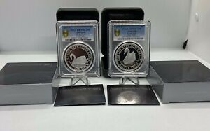 2017 & 2018  Australian Silver Swan Proofs PCGS PR70DCAM FS with Gold Shield