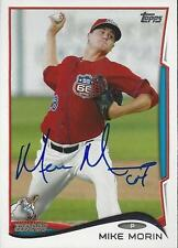 Mike Morin Los Angeles Angels 2014 Topps Pro Debut Signed Card