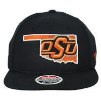 NCAA Zephyr Oklahoma State Cowboys Black Snapback Adjustable Flat Bill Hat Cap