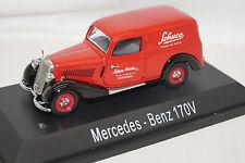 Schuco Mercedes Benz 170V KAstenwagen Sonderedition 02257 1/43 rot limited