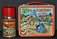 1962 FLINTSTONES & DINO VINTAGE LUNCHBOX W/THERMOS