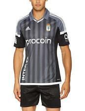 Adidas Real Oviedo [ Talla S/M/L ] Away Camiseta BI6077 Negro Nuevo y Emb. Orig.